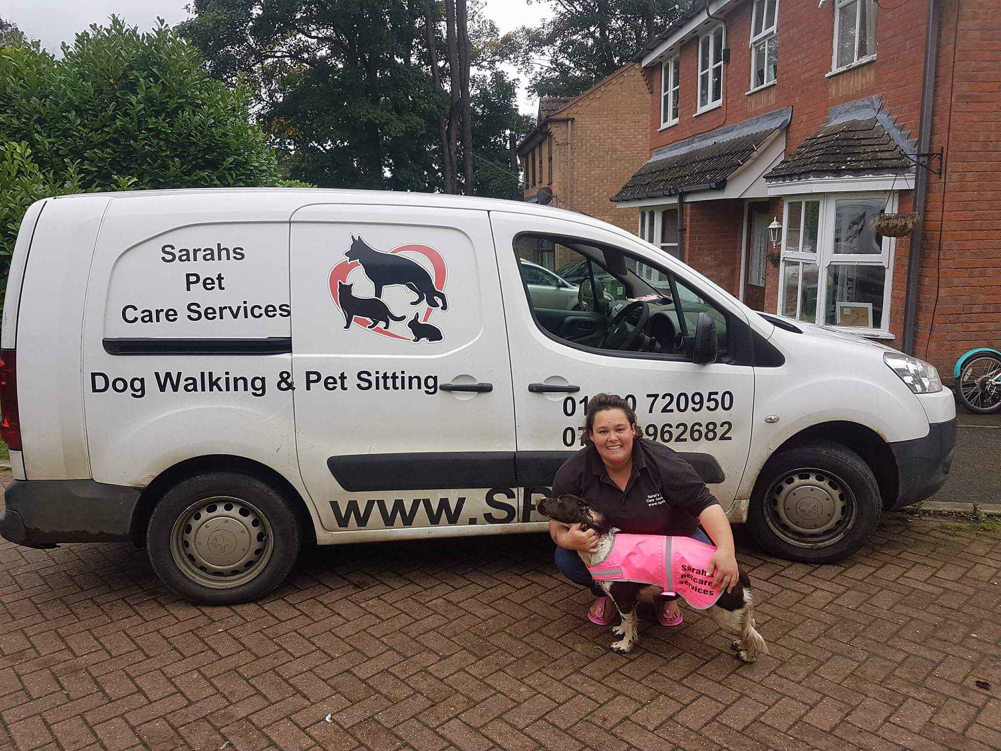 Dog Walking and Pet Sitting van from Sarahs Pet Care Services